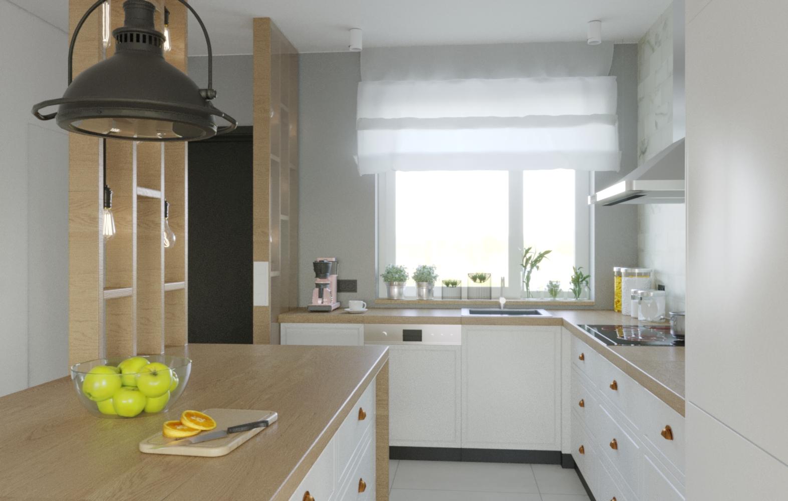 Kuchnia z jadalni_Interactive LightMix
